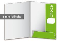 Präsentationsmappe Choice - Füllhöhe ausreichend für ca. 10 Blatt. Die Visitenkartenschlitze befinden sich auf der breiten, rechten Lasche. Zur Stabilisierung wird die untere Lasche in die obere gesteckt. Auf Wunsch können Sie Ihre Präsentationsmappe mit einer Abheftvorrichtung als Beileger oder zum Einkleben ausstatten. http://www.myflyer.de/Produkte/Mappen/Mappe-Choice.html