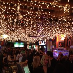 Great bar ceiling with twinkle lights in Chicago