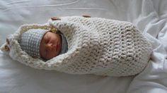 Baby Cocoon Crochet 100% Merino Wool Haken Pure Wol Cocon