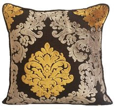 Luxury Gold And Brown Throw Pillows Cover 16x16
