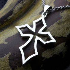 Sterling Silver Wide Pointed Outline by DavidDafferDesigns on Etsy Sterling Silver Cross, Sterling Silver Jewelry, Outline, Christian Jewelry, Pendant, Tat, David, Shop, Hang Tags