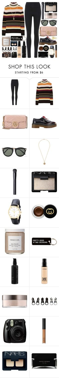 """""""Say what you want but the way she kills you makes you feel alive"""" by pure-and-valuable ❤ liked on Polyvore featuring Live the Process, Paul & Joe, Gucci, Burberry, Karen Walker, Foundrae, NARS Cosmetics, French Girl, Various Projects and St. Tropez"""