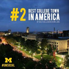 Best College Town, but always in your heart. College Campus, College Fun, College Life, Best University, University Of Michigan, Go Blue, Michigan Wolverines, Ann Arbor, Night Time