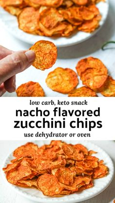 Low Carb Nacho Zucchini Chips – a tasty keto snack and a great way to use all that garden zucchini! Low Carb Nacho Zucchini Chips – a tasty keto snack and a great way to use all that garden zucchini! Squash Chips, Zucchini Squash, Yellow Zucchini, Zucchini Slice, Keto Snacks, Healthy Snacks, Zucchini Chips Recipe, Dehydrated Zucchini Chips, Dehydrated Food