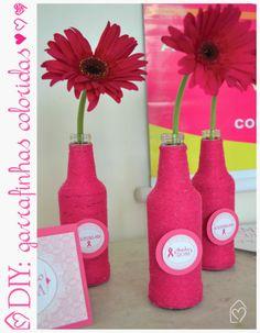 DIY: garrafas coloridas #diy #garrafas #colors #decor #idea #casadasamigas