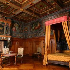 La Chambre des Arts at Chateau d' Ancy-le-Franc, France.