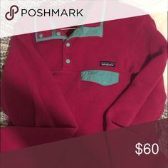 Women's Patagonia Pink and blue Tops Sweatshirts & Hoodies