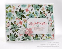 Birthday Bouquet  card created by Dawn Olchefske #dostamping #stampinup