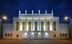 Theatre Database / Theatre Architecture - database, projects Theatre Architecture, Czech Republic, Mansions, House Styles, Projects, Home Decor, Mansion Houses, Blue Prints, Decoration Home
