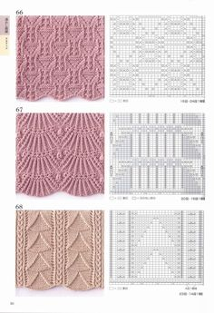260 Knitting Pattern Book by Hitomi Shida 2016 — Yandex. Lace Knitting Stitches, Lace Knitting Patterns, Cable Knitting, Knitting Charts, Lace Patterns, Stitch Patterns, Pattern Books, Knitting Projects, Yandex Disk