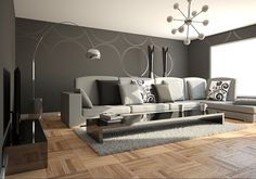 grey paint ideas | 25 Overwhelming Living Room Paint Color Ideas | CreativeFan