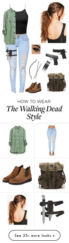 """""""The Walking Dead"""" by well-its-jess on Polyvore featuring Boohoo and Caliber"""