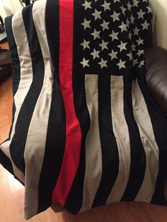 Thin Red Line- Firefighter- Throw/ Blanket