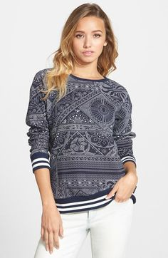 Element 'Wild Things' Fleece Pullover available at #Nordstrom