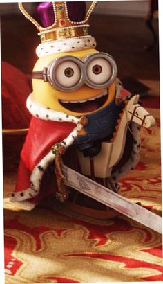King Bob of the Minions with his horse and sword from the Minion Movie. Minion Rock, Minions Bob, Minions Images, Cute Minions, Minion Movie, Minion Pictures, Minions Despicable Me, My Minion, Minions Quotes