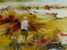 Paysage aquarelle aquarelle originale réalisée sur papier