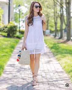 Who's ready for summer? You might need to add this cute little white lace dress just in case   #dressinstyle #readyforsummer www.MillieFreeman.com See more via @peachesinapod