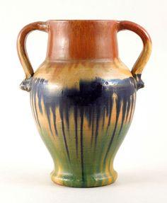 Cole Owens North Carolina Pottery NC Multicolor Trophy Vase Southern Art Folk