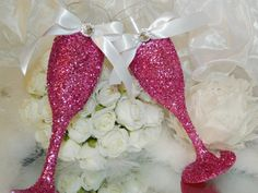 Wedding Champagne Glass Champagne Flute Toasting by KPGDesigns, $50.00