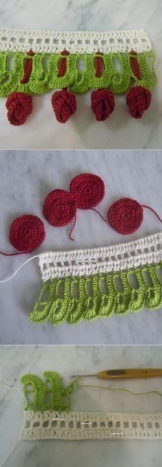 Hoa tulip cho crocheting đẹp