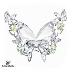 """Retail: $160 Swarovski Crystal Figurine BUTTERFLY Aurore Boreale #5031512 Size: 2.5"""" tall x 3"""" wide New in original box Swarovski Crystal Figurines, Swarovski Crystals, Cut Glass, Glass Art, Butterfly Pictures, Glass Figurines, Crystal Collection, Beautiful Butterflies, Sculptures"""
