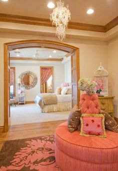 How cool would this room be for a teen girl? #teen-room