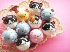 Kawaii Cute Maruneko Club Maracas Roly Poly Doll Collection by Kawaii Japan, via Flickr
