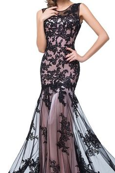 7f91526d0a4 Babyonlinedress Long Evening Sleeveless Lace mermaid formal dress -- Be  sure to check out this awesome product. (This is an affiliate link and I  receive a ...