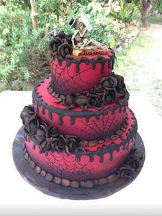 A Spectacular Gothic Wedding Cake