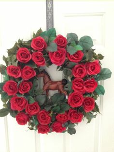 Kentucky Derby Wreath by PetalsandMore on Etsy, $90.00