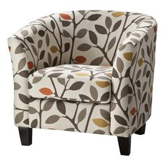 Add style to your space with a Portland Tub Chair. This accent chair makes for comfy seating with its padded back and arms, deep seat and barrel shape. Add a pair by your fireplace to create a cozy conversation nook. The armchair also has a classic silhouette and clean lines that blend with almost any decor. It's made with durable materials for a chair you can love for years. Pick from solid leather upholstery to colorful prints in a variety of styles.