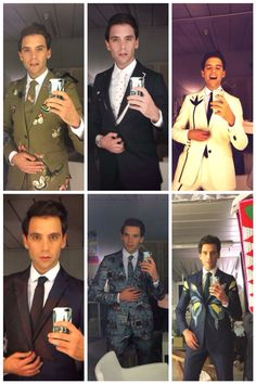 Mika's selfie and outfits for X Factor Italia 8