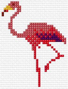 Cross Stitch | Flamingo xstitch Chart | Design