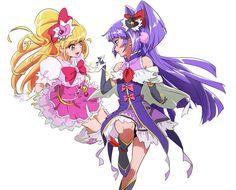 Tags: Fanart, Pixiv, Fanart From Pixiv, Nukosan., Mahou Tsukai Precure!, Cure Miracle, Asahina Mirai, Cure Magical, Riko (Pretty Cure)