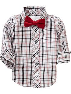 Plaid Shirt & Bow-Tie Sets for Baby | Old Navy