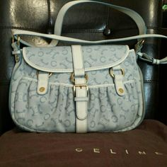 Celine handbag Authentic Celine Canvas Leather Shoulder bag  in Excellent Condition. Celine   Bags