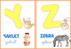 Alfabeto ilustrado em libras para imprimir - Alfabetos Lindos