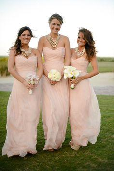 Sweetheart Long Chiffon Blush Bridesmaid Dress/Wedding Party Dress/Maid of Honor Dresses/Prom/Party/Eveningl/Formal Dresses/Custom/Cheap