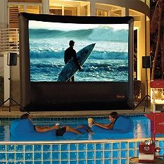 "We can dream! Who wouldn't want their own ""dive-in"" movie theatre in the summer?  Weatherproof TV - Outdoor Electronics - Waterproof Speakers."
