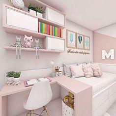 Room Design Bedroom, Girl Bedroom Designs, Small Room Bedroom, Room Ideas Bedroom, Double Bedroom, Bedroom Decor For Teen Girls, Teen Girl Bedrooms, Small Room Design, Kids Room Design