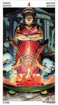 Four of Wands - Initiatory Tarot of the Golden Dawn by Giordano Berti, Patrizio Evangelisti