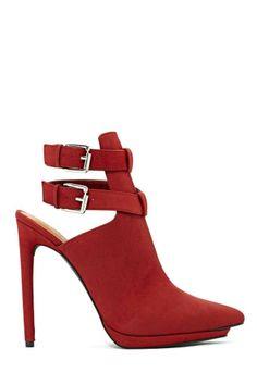 Shoe Cult Natalie Bootie - Red