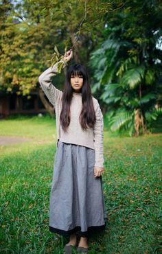 hair, shirt, skirt & shoes
