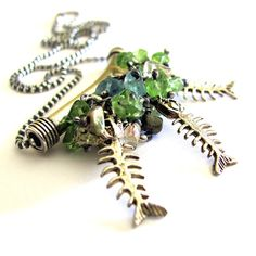 NEGLECTED AQUARIUM  tropical fish necklace by OneEyeCatStudio