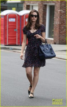 666e44b9f2 Emmy Rossum Celebrates Her Birthday on  Shameless  Set  Photo Emmy Rossum  keeps it super cute in a floral dress while leaving a hair salon after an  ...