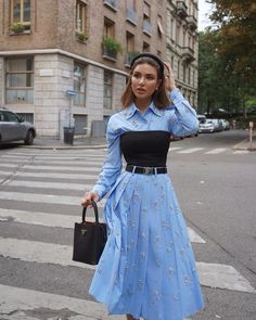 """Negin Mirsalehi on Instagram: """"Ciao Milano! Feeling like a @prada 👸🏻"""" Classy Outfits, Chic Outfits, Trendy Outfits, Fall Outfits, Look Fashion, High Fashion, Womens Fashion, Fashion Design, Milan Fashion"""
