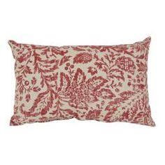 @Overstock - This decorative pillow from Pillow Perfect is sure to be the perfect accent in any room. An antiqued red damask pattern covers the cream background on this throw pillow for a French country cottage feel. http://www.overstock.com/Home-Garden/Pillow-Perfect-Red-Cream-Damask-Throw-Pillow/6431347/product.html?CID=214117 $22.57