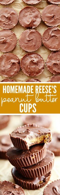 Homemade Reese's Peanut Butter Cups come together in just 15 minutes and are even better than the real thing!