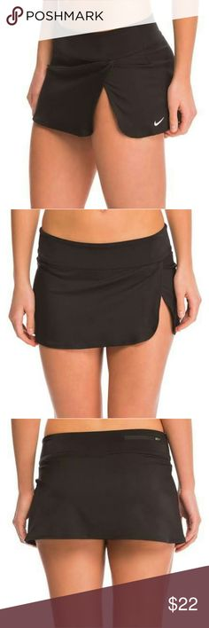 Nwt nike swim skirt This is a new Nike women's core solid swim skirt black available in size medium and extra large Nike Swim