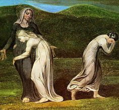 Naomi Entreating Ruth and Orpah, by William Blake